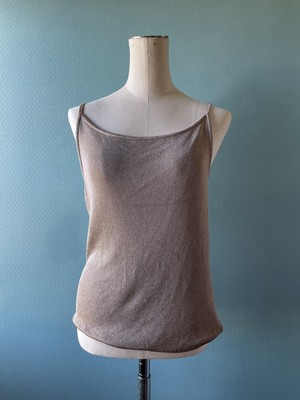 gold knit camisole