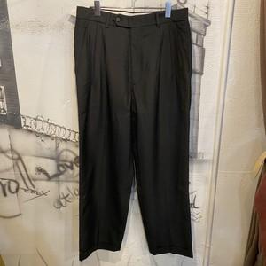 polyester wool check slacks