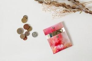 森と朝焼けのコインケース