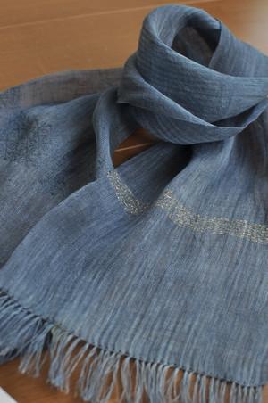 手織りリネンスカーフ ~蛍~