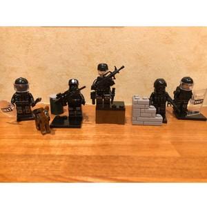 SWAT6体X2=12体、ブロック用ミニフィギュア。組み立て必要。 室内 長期休み GW ミニフィグ フィギュア