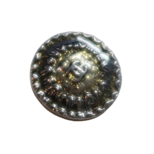 【VINTAGE CHANEL BUTTON】イエローラメフレーム 18mm C-2020-016