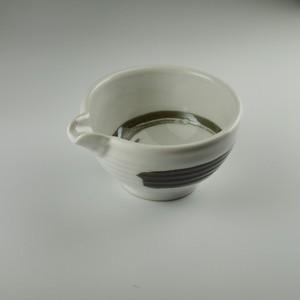 白釉錆刷毛3寸片口鉢 [ 10.5 x 9 x 5㎝ ] 【黒と白】