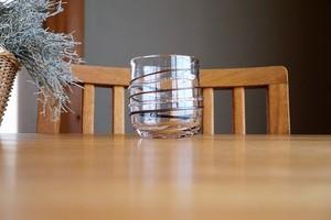 ガラス/銀の糸マーブルグラス(コーヒー)/空西あかね
