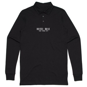 HOTEL BLUE / POLO LOGO LONG SLEEVE / BLACK