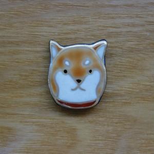 柴犬(帯留・ブローチ)