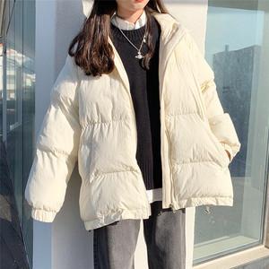 【アウター】無地ファッションフード付き綿コート
