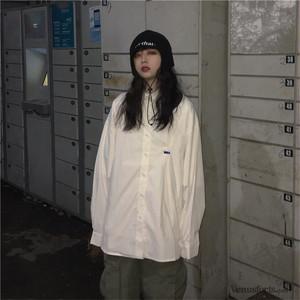 【トップス】無地シンプルストリート系カジュアルシャツ21710530