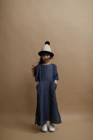 linen denim dress Mサイズ