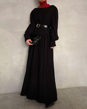 made in India vintage black maxi dress