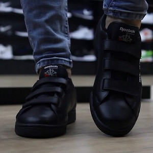 Reebok Classic Ntp Straps Trainers Black UK7.5