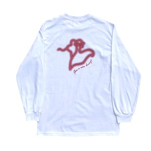 Give a new breeze L/S tee(WHITE)