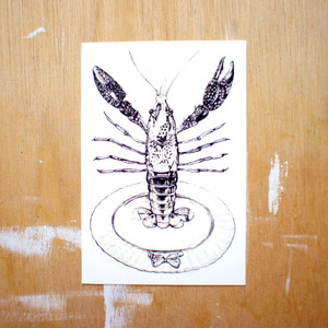 ポストカード150「ザリガニプレート」 pc-150 02