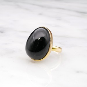 SINGLE BIG STONE RING GOLD 001