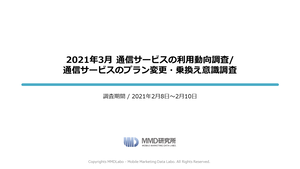 2021年3月 通信サービスの利用動向調査 / 通信サービスのプラン変更・乗換え意識調査