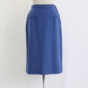 Vintage 60's USA 【Doris Dolson】Wool Blue Tight Skirt アメリカ 60年代 ヴィンテージ ウール タイトスカート