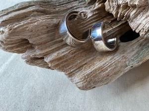 <vintage silver925>plain hoop pierce