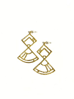 EG003G 【G-3 gold earrings】