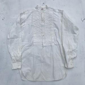 ~30's Monarch モナーク パーティードレスシャツ ホワイト コットン マチ付き スタンドカラー ボタン付け替え M位 希少 ヴィンテージ
