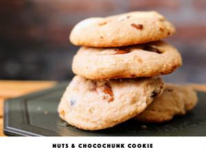 ナッツ&チョコレートチャンクBIGクッキー《WHITE》