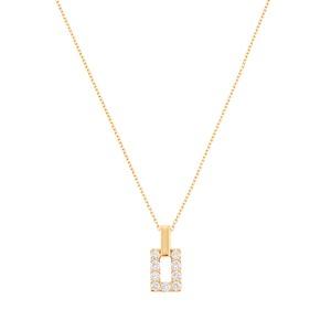 K18YGダイヤモンドネックレス 020201009639