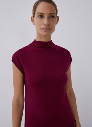 SHORT SLEEVE TOP WITH PARKINGS COLLAR