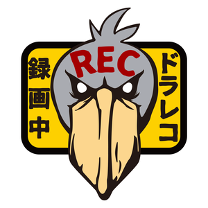 ドラレコ録画中マグネットステッカー★ハシビロコウ(恐)