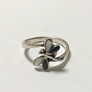 Vintage Dragonfly Silver Ring