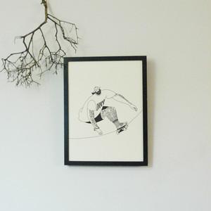 【受注制作】版画/Skateboard/A3サイズ/フレームなし, Prints/Skateboard/Unframed