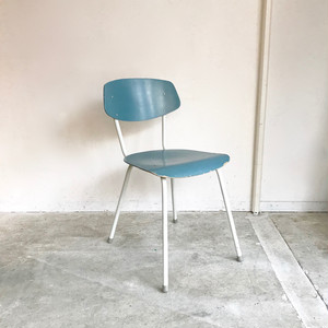 Paint Kitchen Chair / Blue 60's オランダ