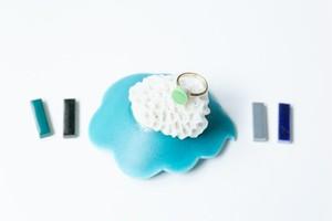 001-r 伝統文化品美濃焼多治見丸タイル指輪・リング(フリーサイズ) ※証明書付