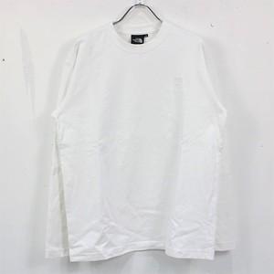 【美品】THE NORTH FACE / ザノースフェイス   NT82037 L/S Nuptse Cotton Tee ヌプシコットンTシャツ   S   ホワイト   メンズ