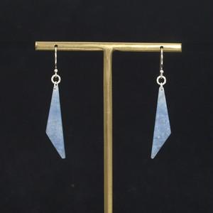 流氷クォーツ (北海道産)  ピアス  1.6g  Ice quartz earrings