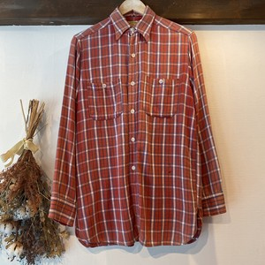 "4〜50's ""WINTER KING"" Check Flannel Shirt"