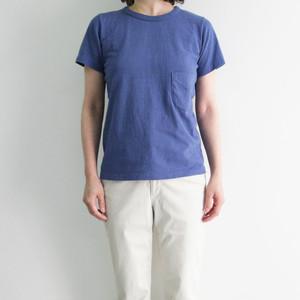 FilMelange (フィルメランジェ) DIZZY ディジー オーガニックコットン 吊り編み レディースポケットTシャツ -HERITAGE BLUE-
