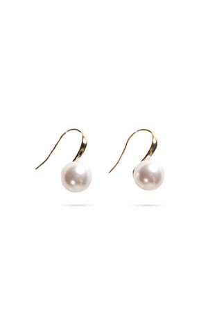 Swarovski Pearl U Hook Earrings | GOLD
