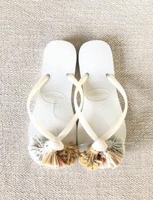 Jelly sandals Shell (Indigo × Turmeric)