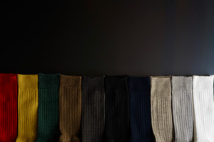 【再入荷】RoToTo / LINEN COTTON RIB SOCKS