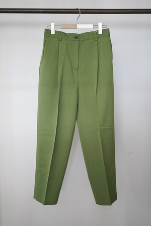 Acne Studios / pleated trousers (Moss Green)