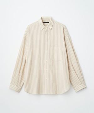 (JUHA) LENO CLOTH STRIPE OVER SHIRT
