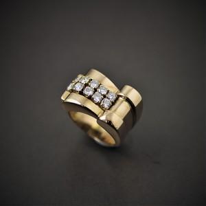 40's Gold & diamond ring 40's ゴールド & ダイヤモンドリング