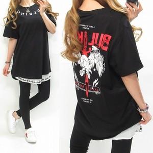 バックプリント/FrontロゴBIGTシャツ/インポート限定/黒