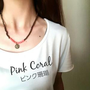 ユニセックス☺wood necklace