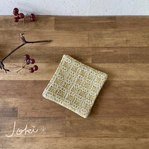 Coaster[綿入り手織りコースター] イエロー