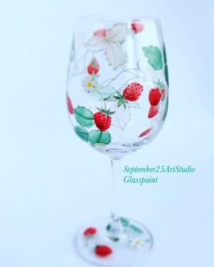 【母の日プレゼント】【結婚式両親贈呈品】木苺(きいちご)ワイルドストロベリーワイングラス 花言葉「幸福な家庭」「愛情」