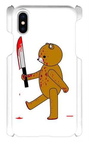 iPhoneX用(血まみれクマスマホケース)