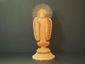 木彫り 本尊 ◆ 西阿弥陀如来 4.0寸