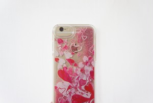 ラブ迷彩 グリッター iphoneケース