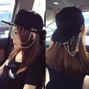 【小物】ファッションストリート系金属飾りリベット帽子26046829