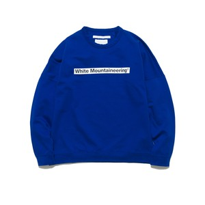 DROP SHOULDER LOGO SWEATSHIRT - BLUE